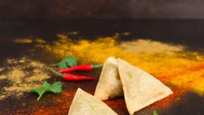 Samoussas au bœuf et au curry