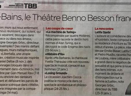 """""""A Yverdon-les-Bains, le Théâtre Benno Besson franchit les murs"""""""