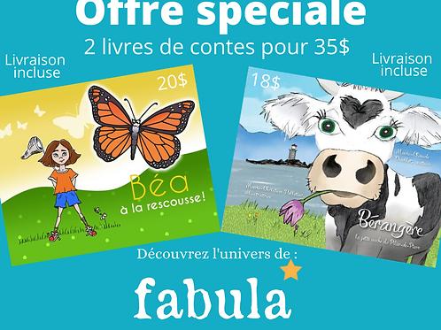 """Duo Livres de conte """"Béa à la rescousse! et Bérangère la petite vache"""""""