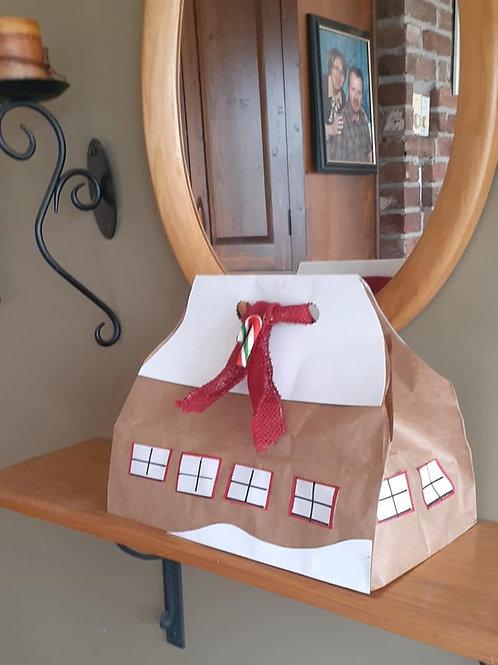 Emballage-cadeau original en grange