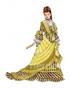 Victorian Lady in Yellow