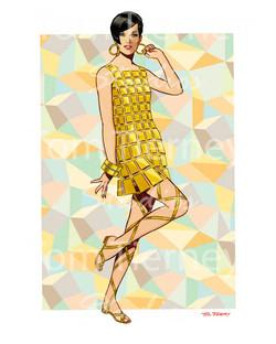 60s Gold Plastic