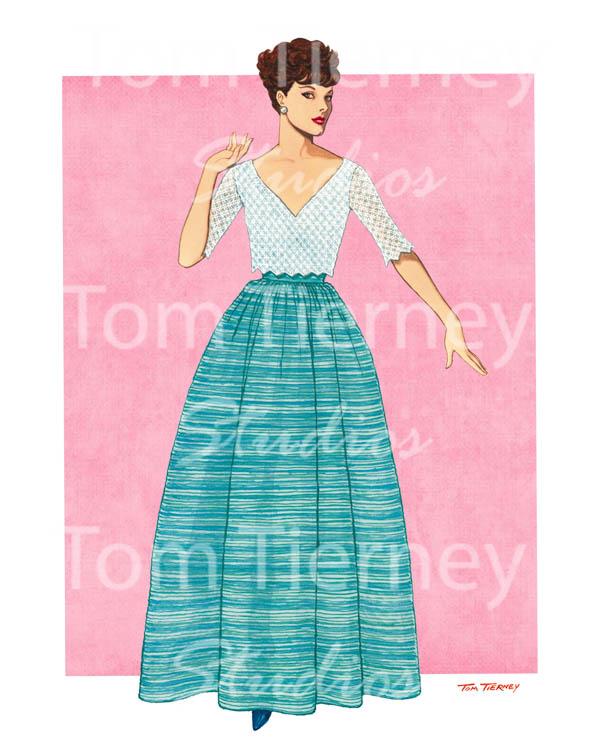 50s Teal Skirt