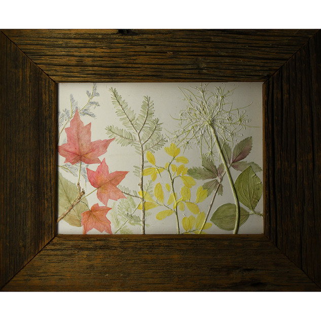 Maple Leaves Queen Annes Lace and Evergreen  $130.00 SOLD