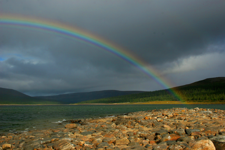 Falcoz camp rainbow over the George