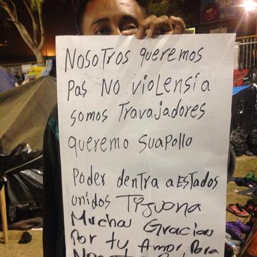 We want peace. Tijuana. 2018