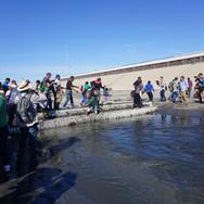 Crossing the canal. Tijuana. 2018