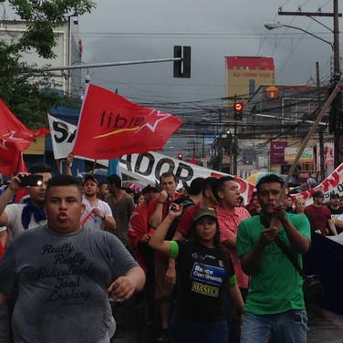 a marchar. San Pedro Sula. 2017