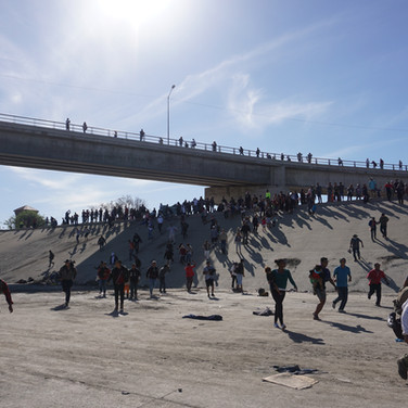 crossing the canal 3. Tijuana. 2018