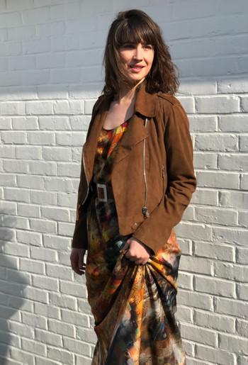 Perfecto en nubuck Oakwood Robe en soie Unbreakabl