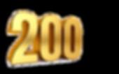 two-hundred-3d-illustration-golden-numbe