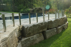 pools & images of a retaing wall
