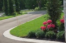 Asphalt driveway and brick paver
