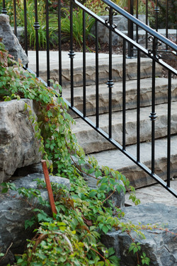 Natural Stone Steps Facing