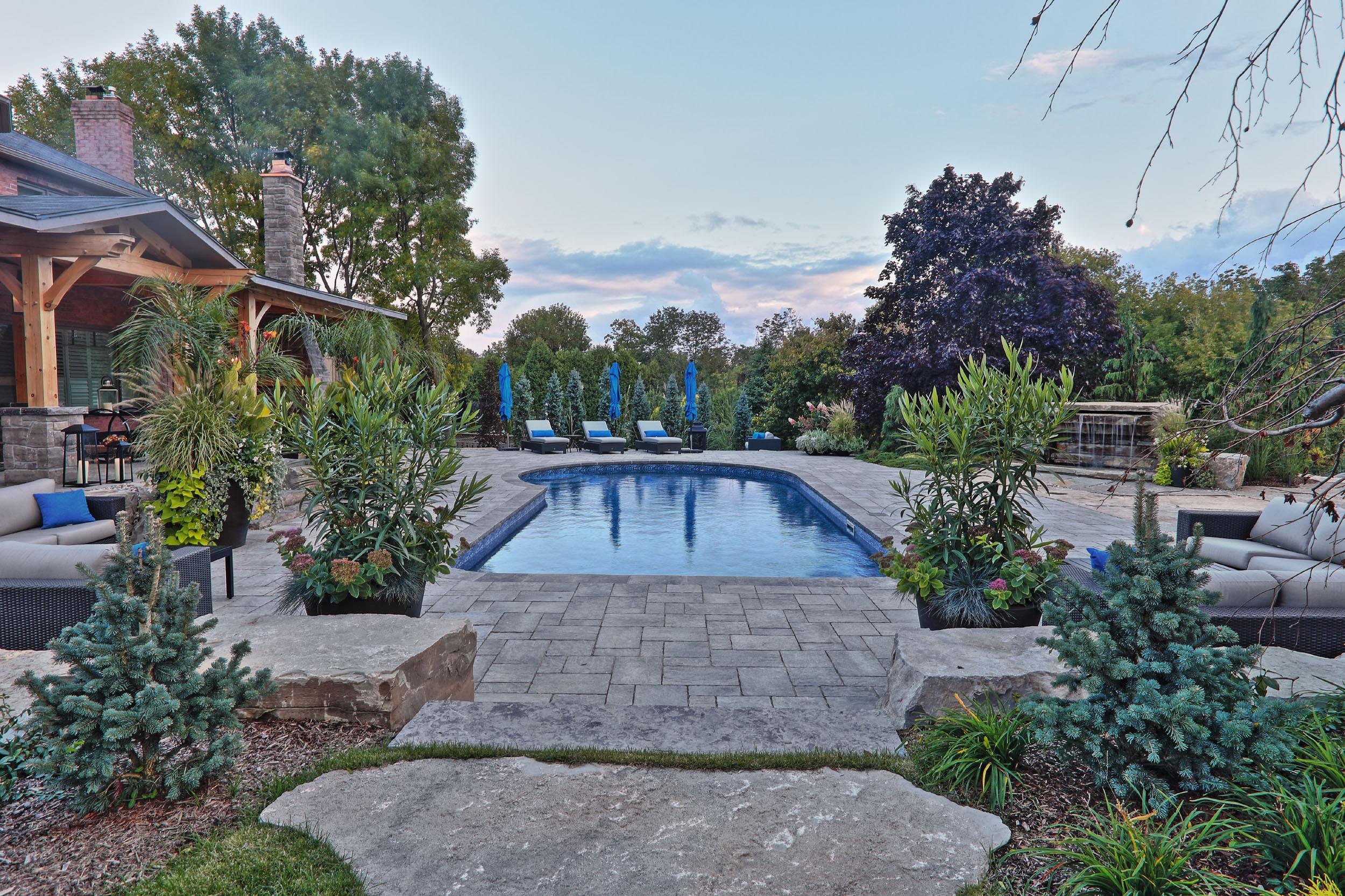 Outdoor Inground Residential Swimmin