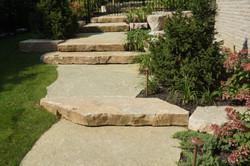 Jumbo flagstone and natural steps