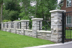 Natural Stone Fence Retaining Wall