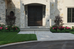Stone paver walkway and driveway