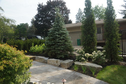 Interlock pavers and stone garden