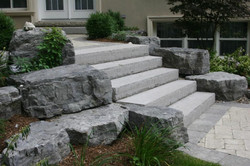Natrual Steps and Rockery