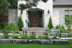 Front Garden with steps and rocks