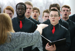 Singing at the ND State Capitol