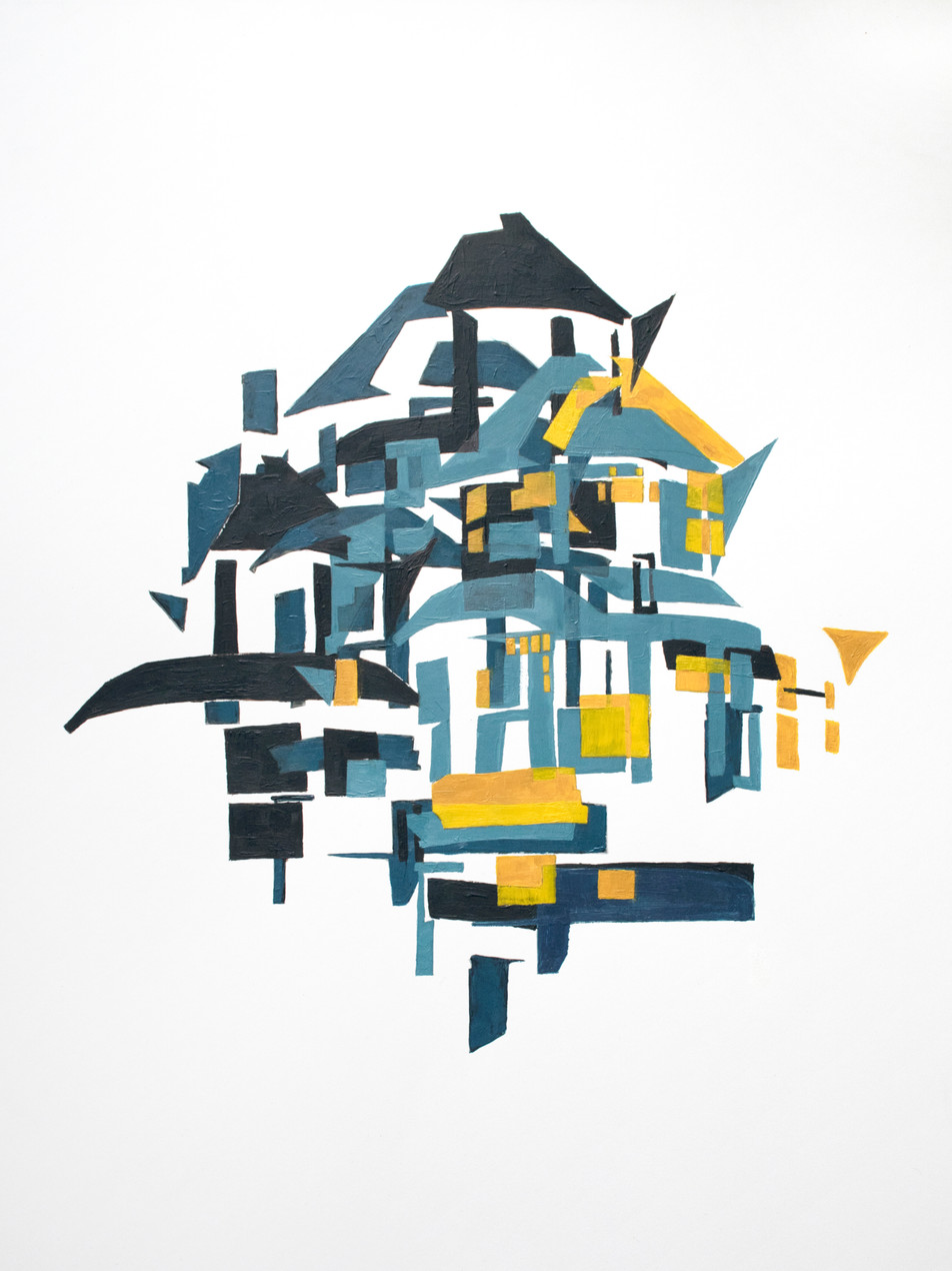 Untitled (Teal and Yellow)