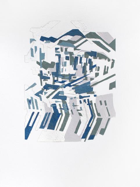 Untitled (Blue Pochoir)