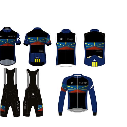 Kit Réunion 2021 - 4 pièces - Personnalisation du maillot été avec votre pseudo