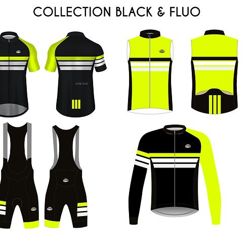 Kit Aero - Black & Fluo - 4 pièces - personnalisation avec votre texte