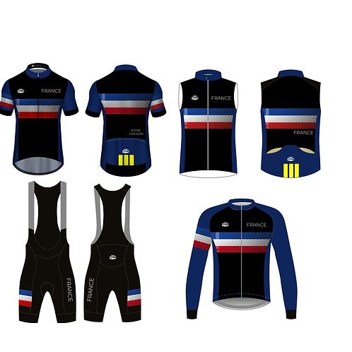 Kit France 2021 - 4 pièces - Personnalisation du maillot été avec votre pseudo