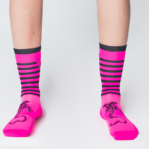 Chaussettes Aerosporting - 2020 - Pink fluo