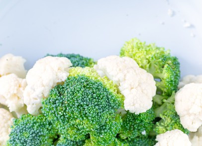 winter food brocolli and cauliflower