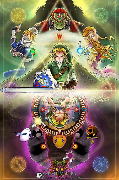 """Legend of Zelda 11""""x17"""" Poster"""