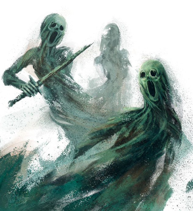 RuneQuest Copper Sand Ghosts - Chaosium Commission