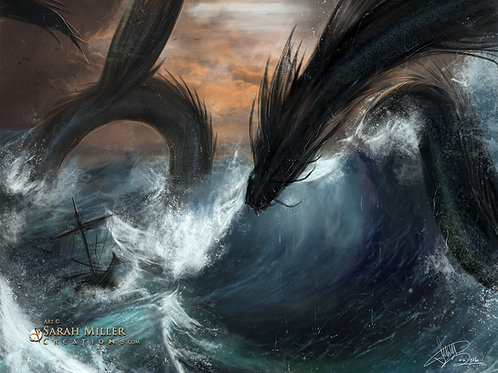 "Sea Serpent 11""x14"" Poster"