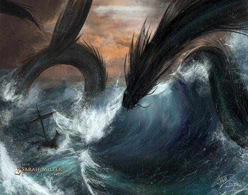 "Sea Serpent 11""x14"" Poster"