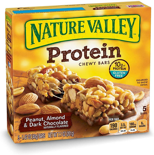 Nature Valley Chewy Granola Bar, Protein, Peanut, Almond and Dark Chocolate