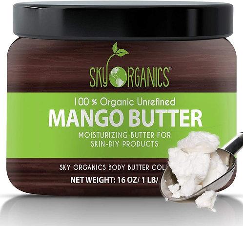 Best Raw Mango Butter by Sky Organics 16oz- 100% Pure
