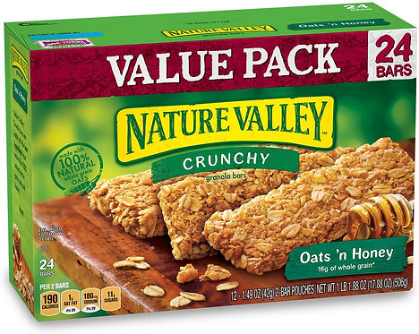 Nature Valley Granola Bars, Crunchy, Oats and Honey