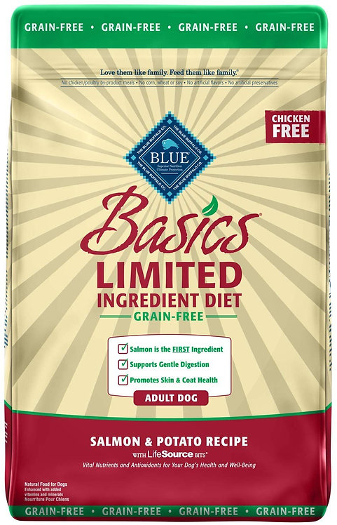 Blue Buffalo Basics Limited Ingredient Diet, Grain Free Natural Adult Dry Dog Fo