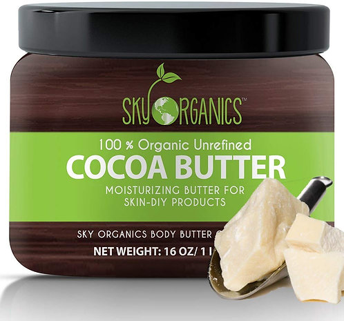 Organic Cocoa Butter By Sky Organics: Unrefined, 100% Pure