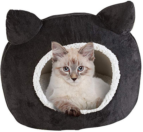 Collections Etc Collections Etc Cute Fleece Cat Head Pet Bed
