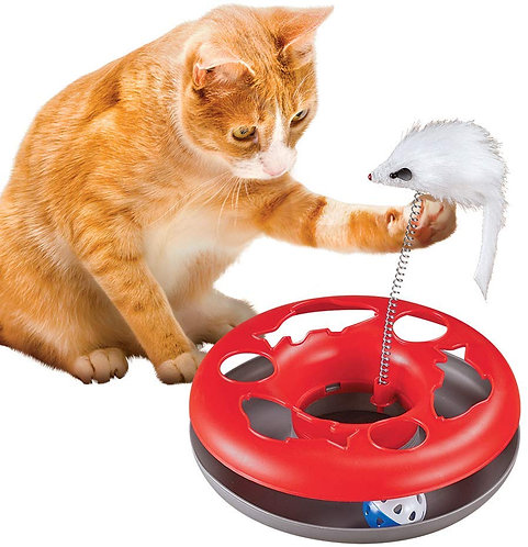 Collections Etc Double Fun Two-in-One Interactive Cat Toy