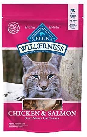 Blue Buffalo Wilderness Salmon Chicken CAT Treats Made in USA