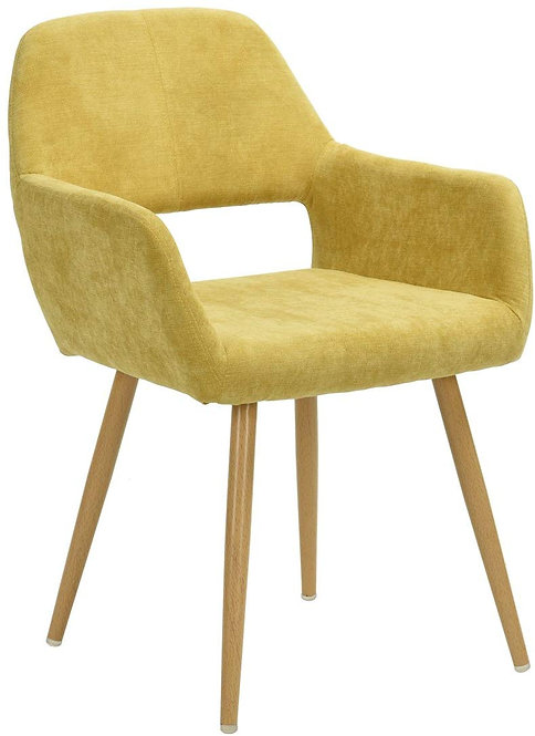 Ihouse Wood Legs Dining Chairs with Mid Back Support Armrest