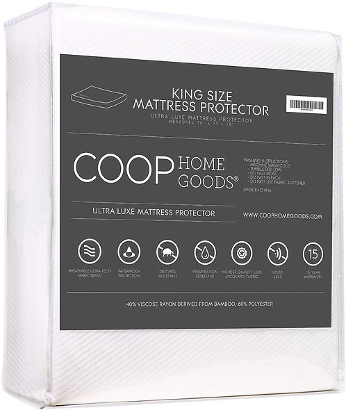Lulltra Waterproof Mattress Pad Protector Cover by Coop Home Goods