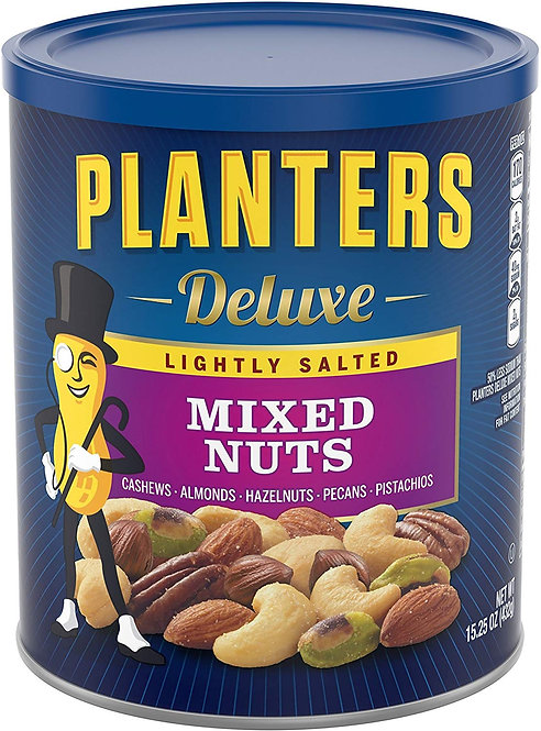 Planters Deluxe Lightly Salted Mixed Nuts, 15.25 oz Canister