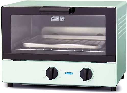 Dash Compact Toaster Oven Cooker for Bread, Bagels, Cookies, Pizza, Paninis