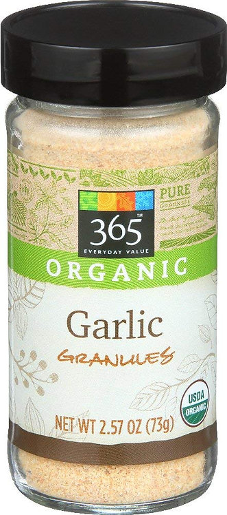 365 Everyday Value, Organic Garlic Granules, 2.57 Ounce
